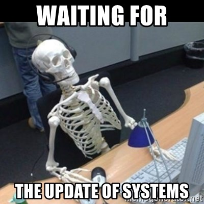 Skeleton computer - waiting for the update of systems