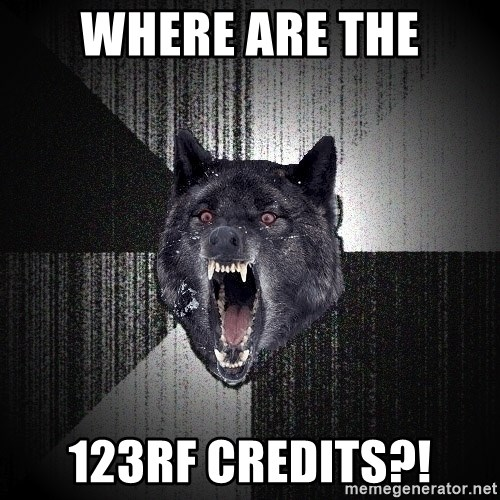 Insanity Wolf - Where are the 123rf credits?!