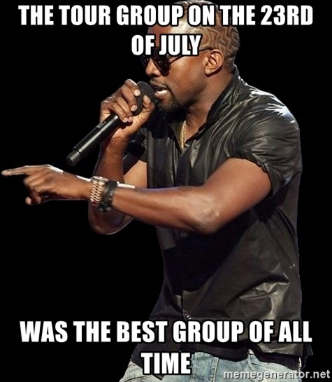 Kanye West - the tour group on the 23rd of july was the best group of all time