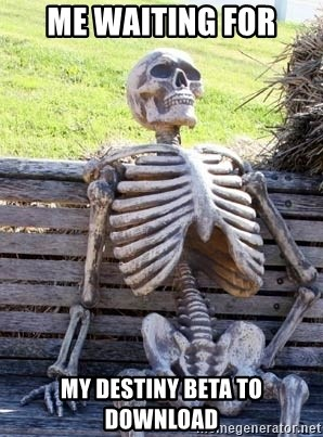 Waiting Skeleton - Me waiting for My Destiny Beta to download