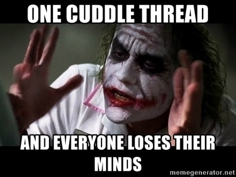 joker mind loss - One cuddle thread and everyone loses their minds