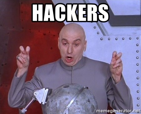Dr. Evil Air Quotes - Hackers