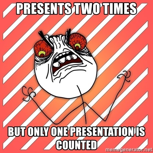 iHate - presents two times but only one presentation is counted