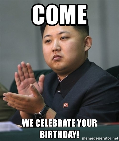 Kim Jong Un clapping - come we celebrate your birthday!