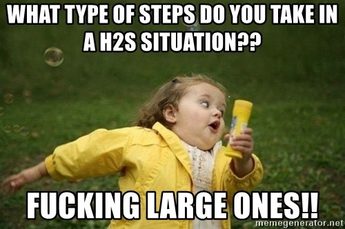 Little girl running away - What type of steps do you take in a h2s situation?? Fucking large ones!!