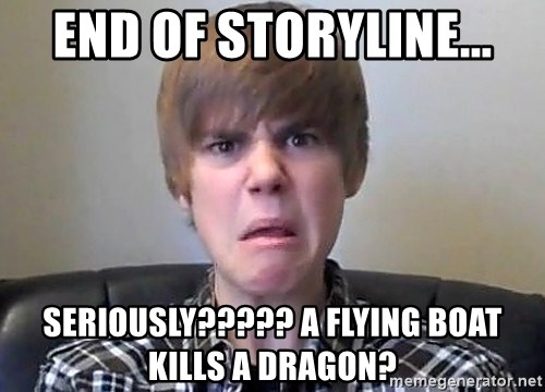 Justin Bieber 213 - END OF STORYLINE... SERIOUSLY????? A FLYING BOAT KILLS A DRAGON?