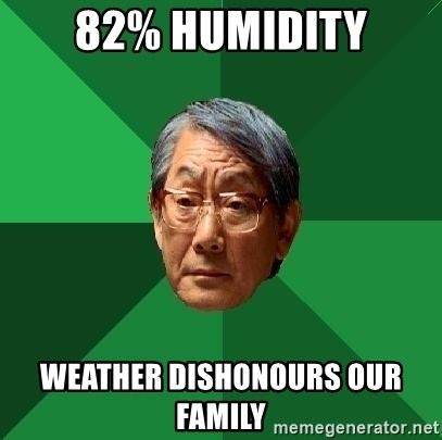 High Expectations Asian Father - 82% Humidity Weather Dishonours our family