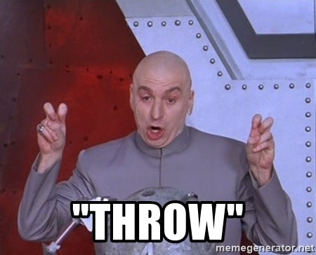 "Dr. Evil Air Quotes -  ""throw"""