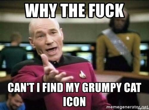 Why the fuck - Why the fuck Can't I Find my Grumpy Cat Icon