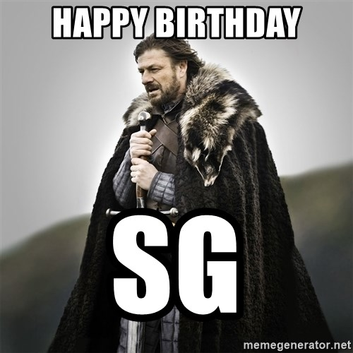 Game of Thrones - Happy Birthday SG