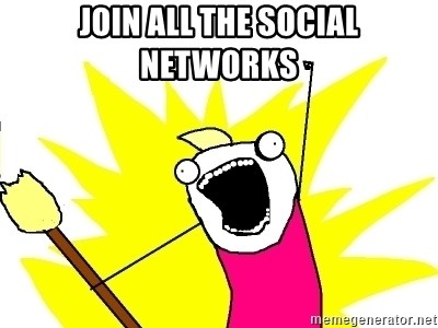 X ALL THE THINGS - join all the social networks