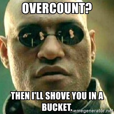 What If I Told You - Overcount? Then I'll shove you in a bucket.