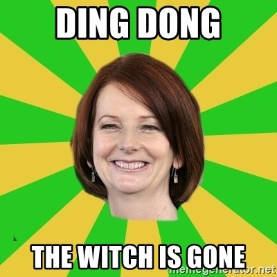 Julia Gillard - Ding Dong The Witch Is Gone