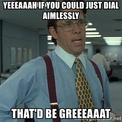 Office Space Boss - Yeeeaaah if you could just dial aimlessly That'd be greeeaaat