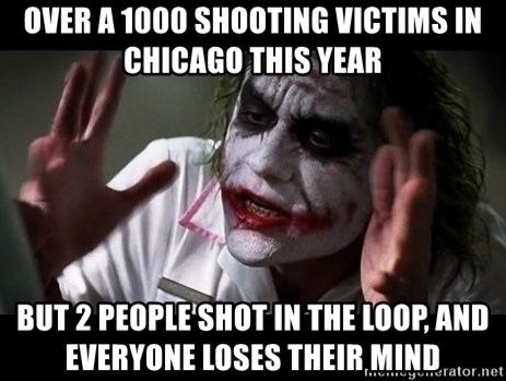 joker mind loss - Over a 1000 shooting victims in Chicago this year But 2 people shot in the loop, and everyone loses their mind