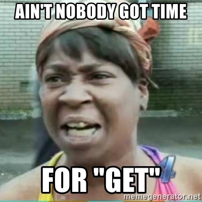 """Sweet Brown Meme - ain't nobody got time for """"get"""""""