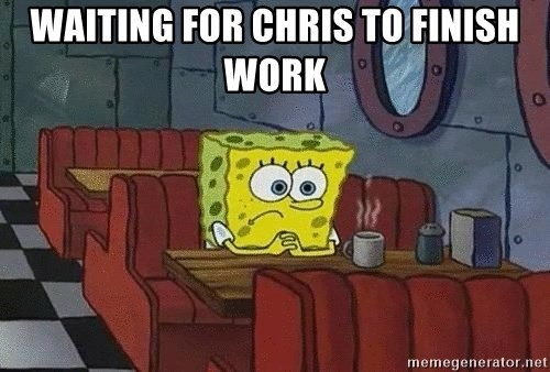 Coffee shop spongebob - Waiting for Chris to finish work