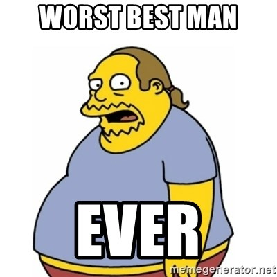 Comic Book Guy Worst Ever - Worst best man Ever