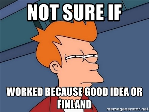 Futurama Fry - Not sure if Worked because good idea or finland