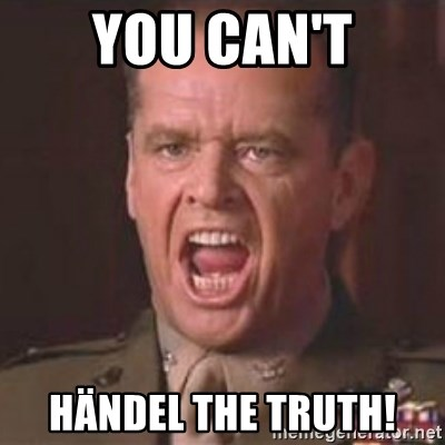 Jack Nicholson - You can't handle the truth! - You can't HäNDEL the truth!