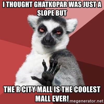 Chill Out Lemur - I thought Ghatkopar was just a slope but the R City Mall is the coolest mall ever!