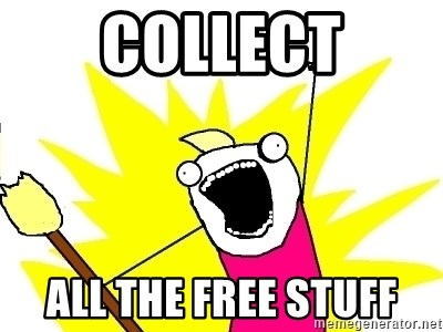 X ALL THE THINGS - COLLECT ALL THE FREE STUFF