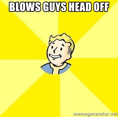 Fallout 3 - blows guys head off