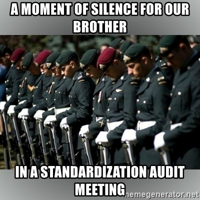 Moment Of Silence - A Moment of Silence for our Brother in a Standardization Audit Meeting