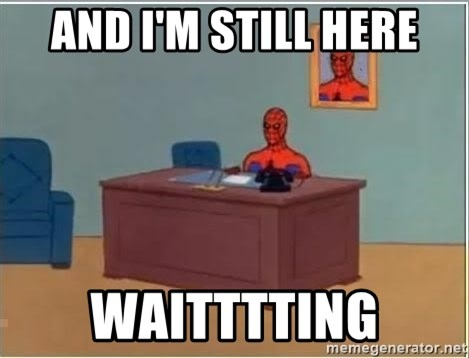 Spiderman Desk - and i'm still here waitttting