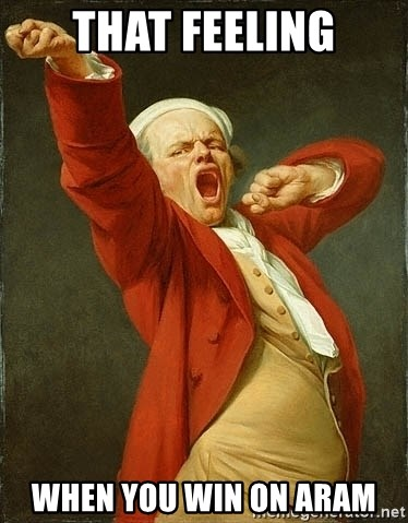 Joseph Ducreux - That Feeling When you win on Aram