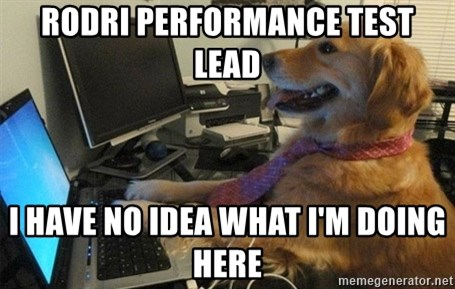 I have no idea what I'm doing - Dog with Tie - RODRI PERFORMANCE TEST LEAD I HAVE NO IDEA WHAT I'M DOING HERE