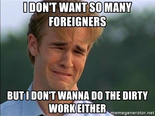 Dawson Crying - I don't want so many Foreigners But i Don't wanna do the dirty work either