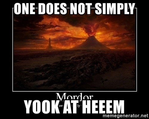 Lord Of The Rings Boromir One Does Not Simply Mordor - ONE DOES NOT SIMPLY YOOK AT HEEEM