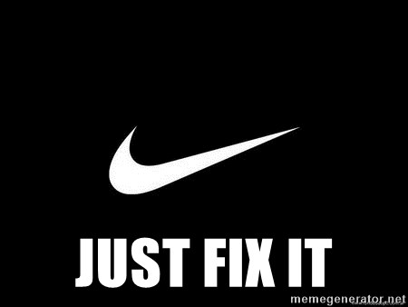 Nike swoosh -  Just fix it