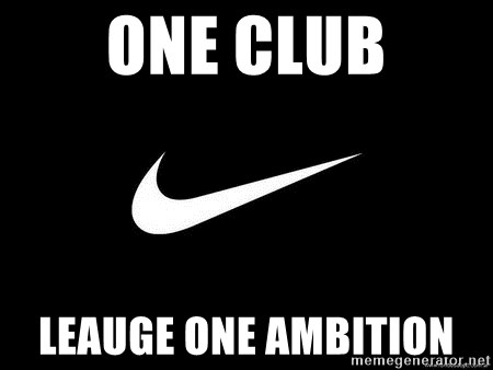 Nike swoosh - One club Leauge one ambition