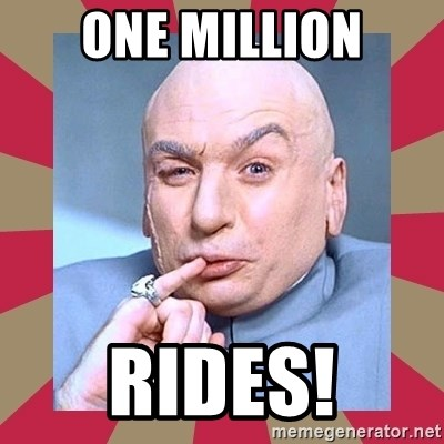 Dr. Evil - One Million RIDES!