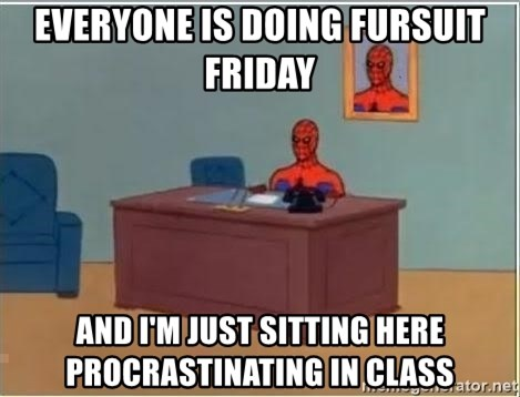 Spiderman Desk - Everyone is doing Fursuit Friday and i'm just sitting here procrastinating in class