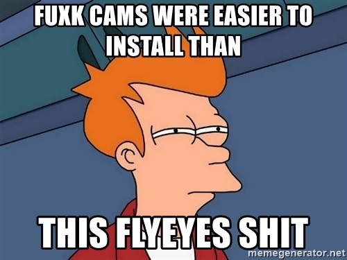 Futurama Fry - Fuxk cams were easier to install than This flyeyes shit