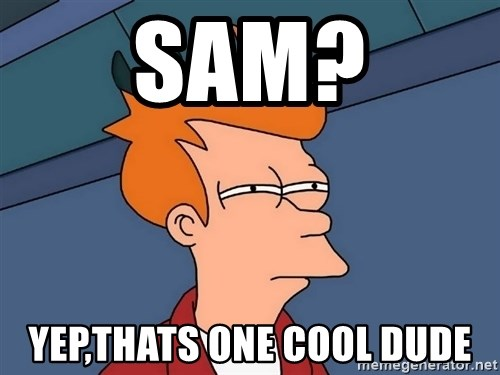 Futurama Fry - sam? yep,thats one cool dude
