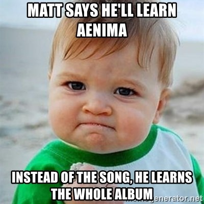 Victory Baby - Matt Says He'll learn Aenima Instead of the song, he learns the whole album