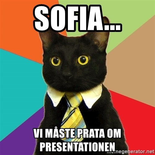Business Cat - Sofia... Vi måste prata om presentationen