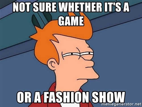 Futurama Fry - Not sure whether it's a game or a fashion show