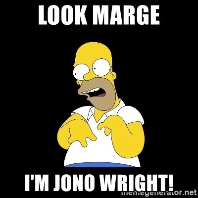 look-marge - Look Marge I'm Jono Wright!