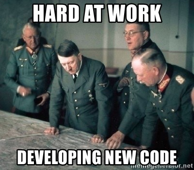 Hitler and Advice Generals - hard at work developing new code