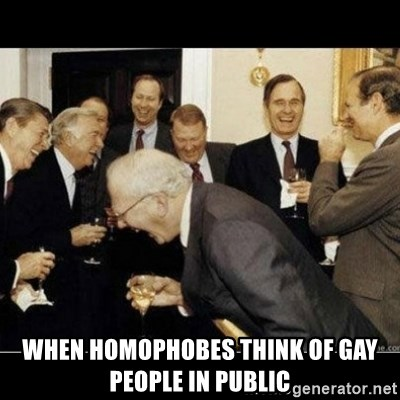 Laughing Professors -  when homophobes think of gay people in public