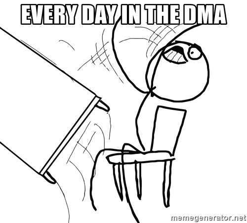 Desk Flip Rage Guy - Every day in the DMA