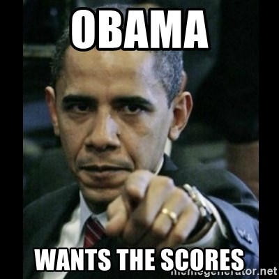 obama pointing - Obama wants the scores