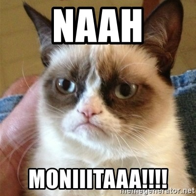 Grumpy Cat  - NAAH MONIIITAAA!!!!