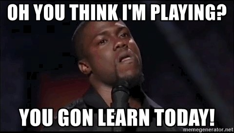 kevin hart playoffs - Oh you think I'm playing? You gon learn today!