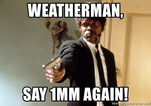 Samuel L Jackson - Weatherman, Say 1mm again!